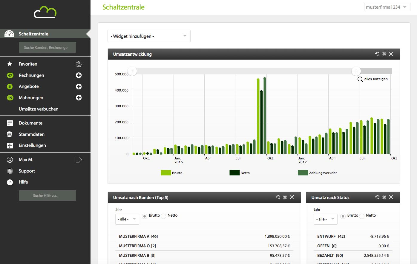 Billomat.com Online-Buchhaltungssoftware