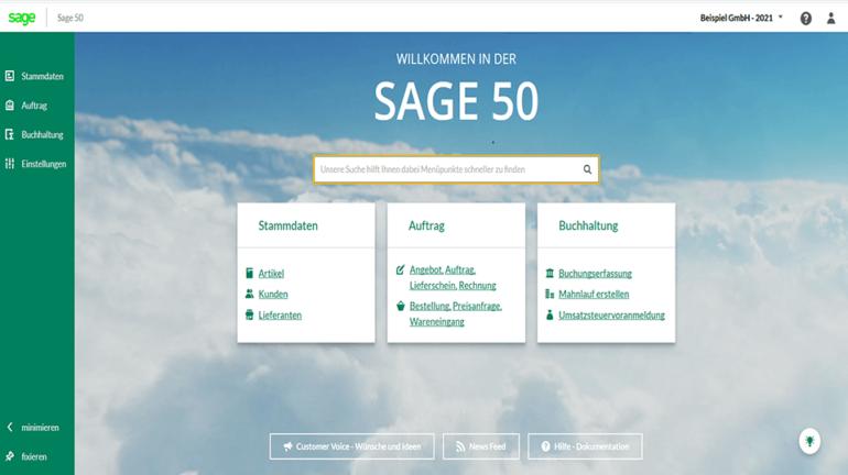 Dashboard Sage 50
