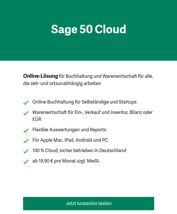 Sage50 testen