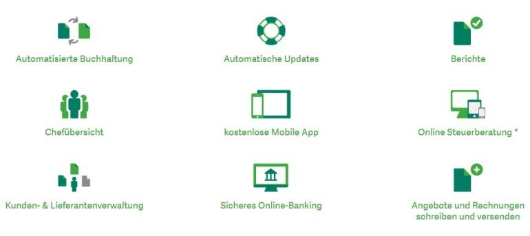 Sageone Finanzen & Buchhaltung Funktionen