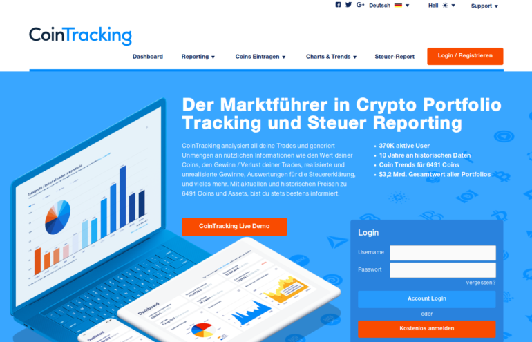 Krypto-Steuer Software CoinTracking